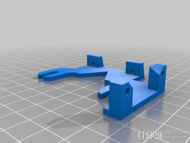 风扇支架(可安装两个风扇) 3D模型  图4