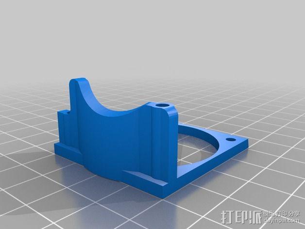 风扇支架(可安装两个风扇) 3D模型  图5