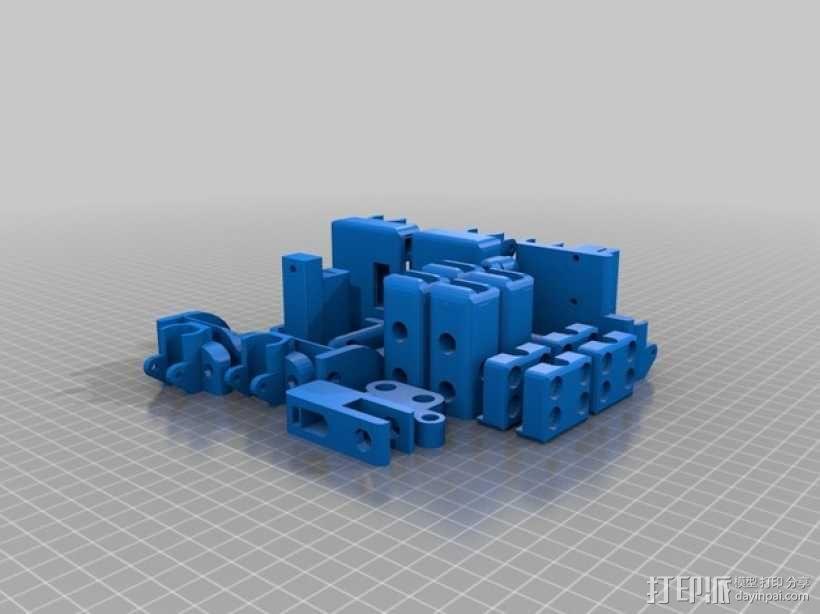 Prusa i3挤出机配件 3D模型  图2