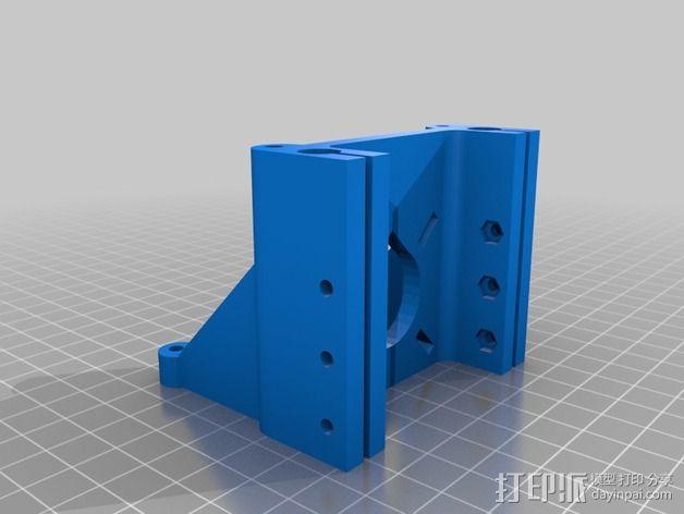 Rostock-Mini打印机底部支撑器 3D模型  图2