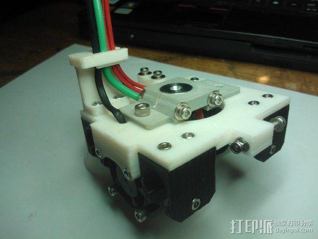 挤出机 喷头支架 3D模型  图2