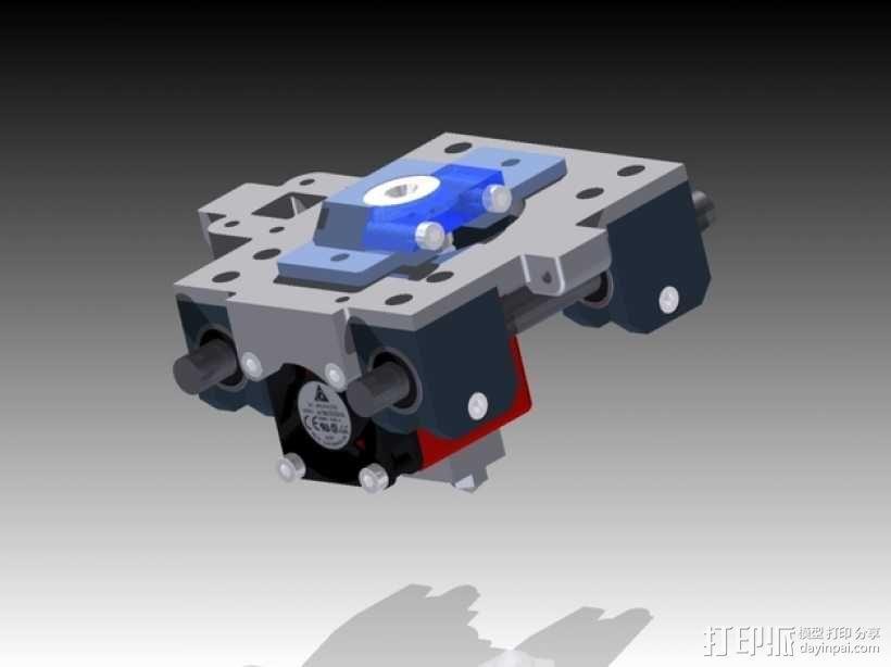 挤出机 喷头支架 3D模型  图1