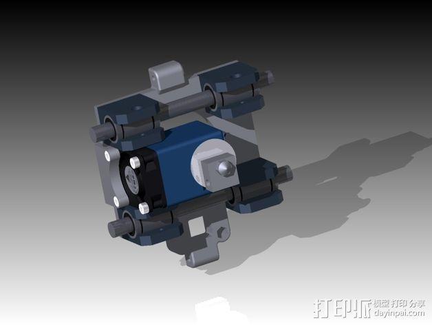 挤出机 喷头支架 3D模型  图3