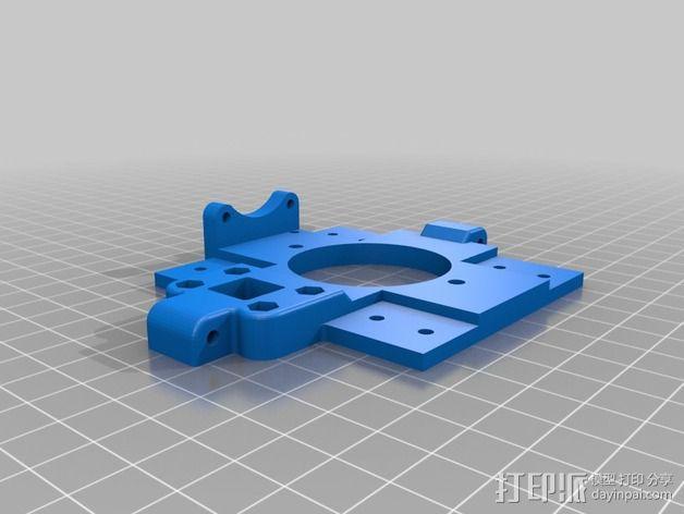 挤出机 喷头支架 3D模型  图5
