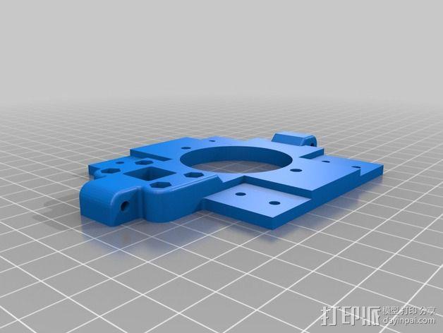 挤出机 喷头支架 3D模型  图4