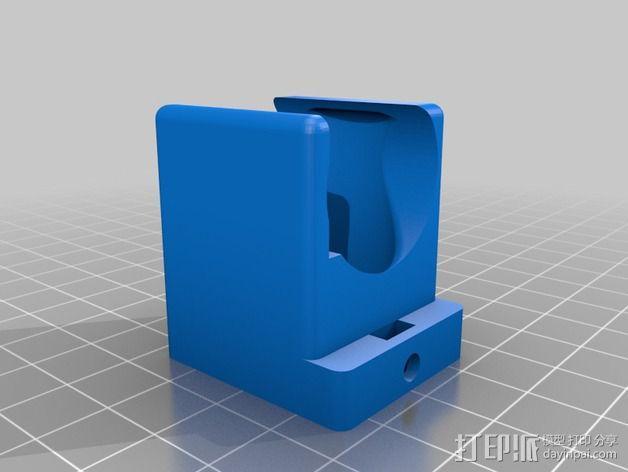 挤出机 喷头支架 3D模型  图6
