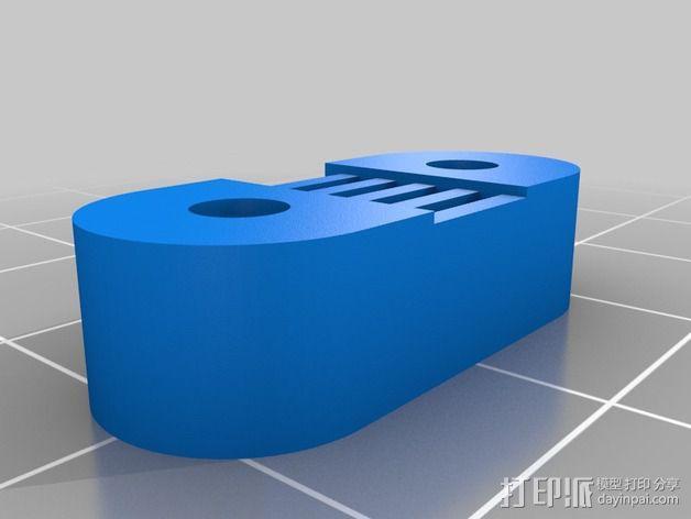 挤出机 喷头支架 3D模型  图9