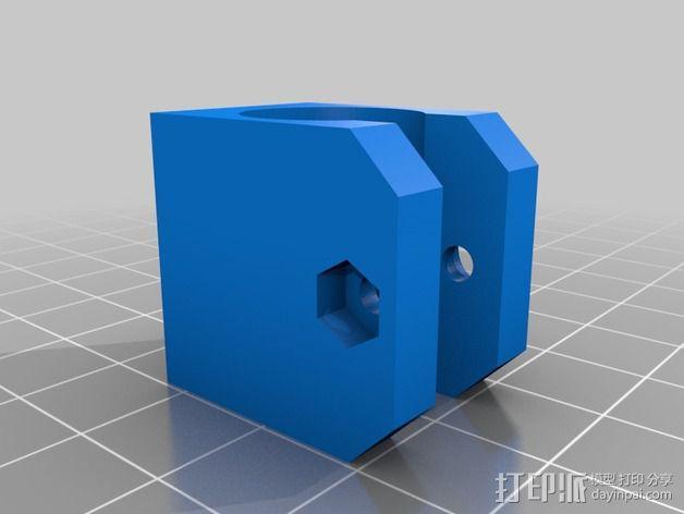 挤出机 喷头支架 3D模型  图8