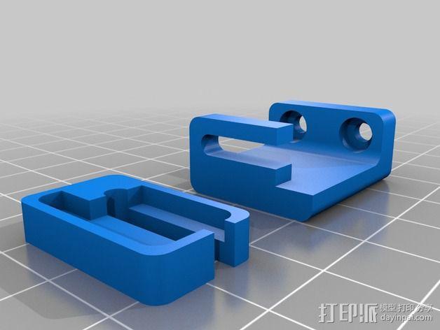 挤出机 喷头支架 3D模型  图12
