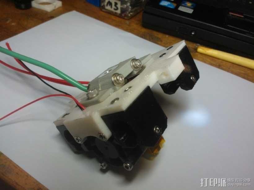 挤出机 喷头支架 3D模型  图14