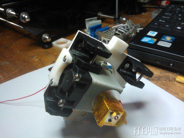 挤出机 喷头支架 3D模型  图13