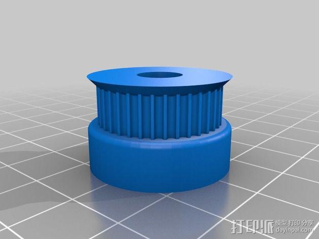 GT2皮带轮 滑轮 3D模型  图1
