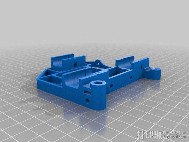 Mendel90直线驱动挤出机 3D模型  图2