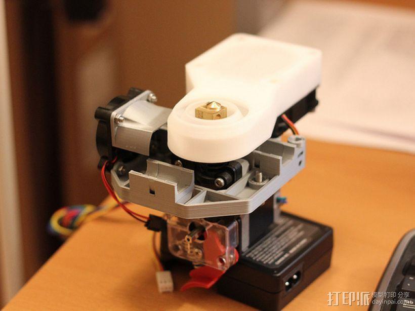 Mendel90直线驱动挤出机 3D模型  图1