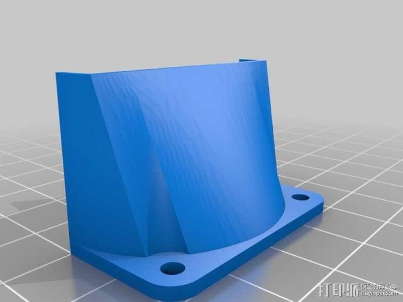 Mendel90直线驱动挤出机 3D模型  图4