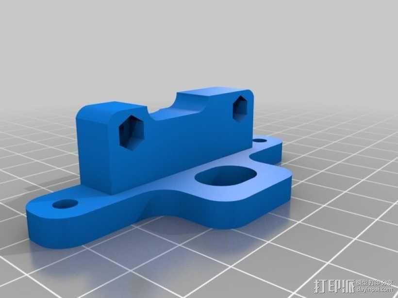 Mendel90直线驱动挤出机 3D模型  图3