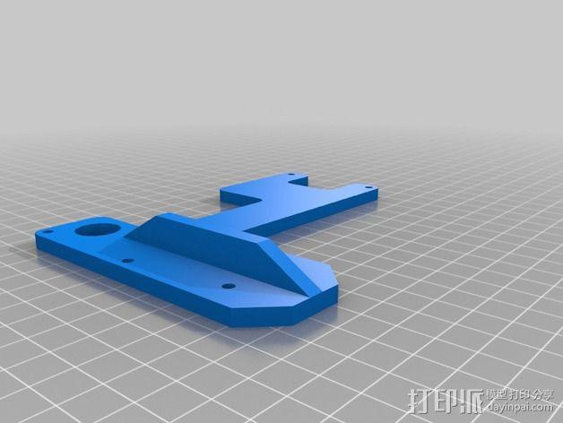 控制器液晶显示屏支架 3D模型  图3