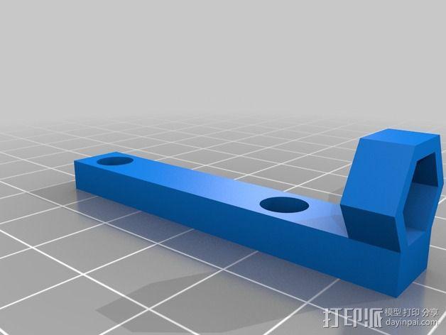 可调节的Z轴限位开关 3D模型  图2
