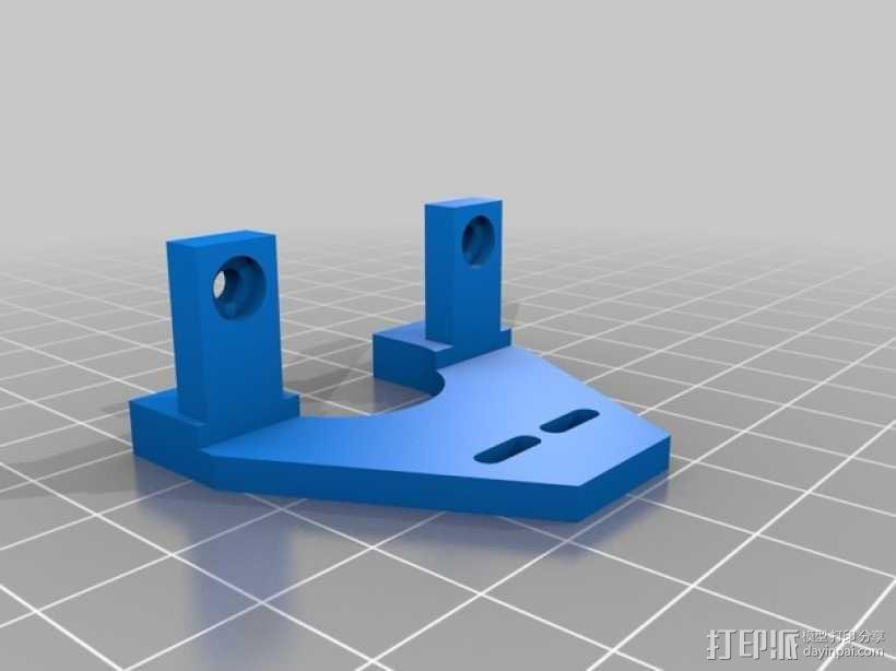 可调节的Z轴限位开关 3D模型  图3
