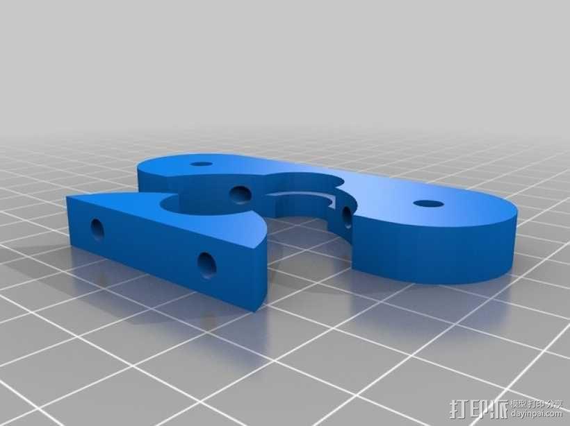 J-Head式喷头支架 3D模型  图1