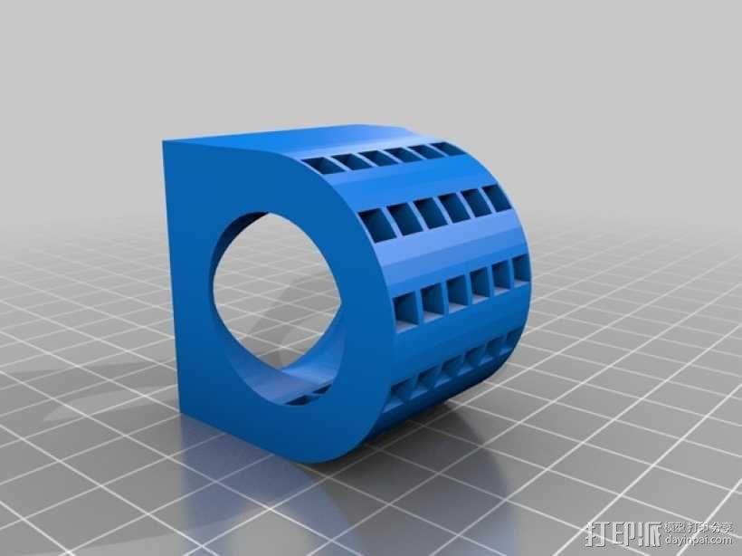 风扇适配器 风扇支架 3D模型  图2