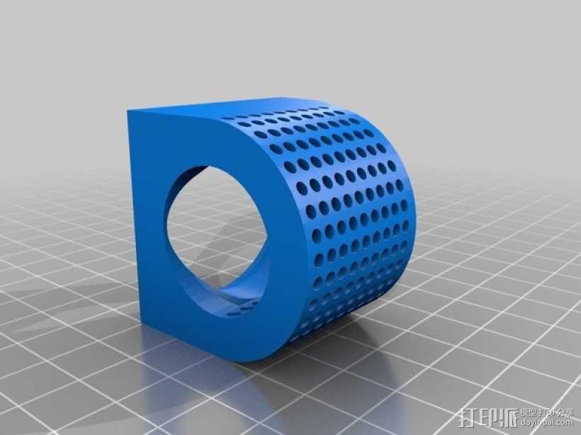 风扇适配器 风扇支架 3D模型  图3