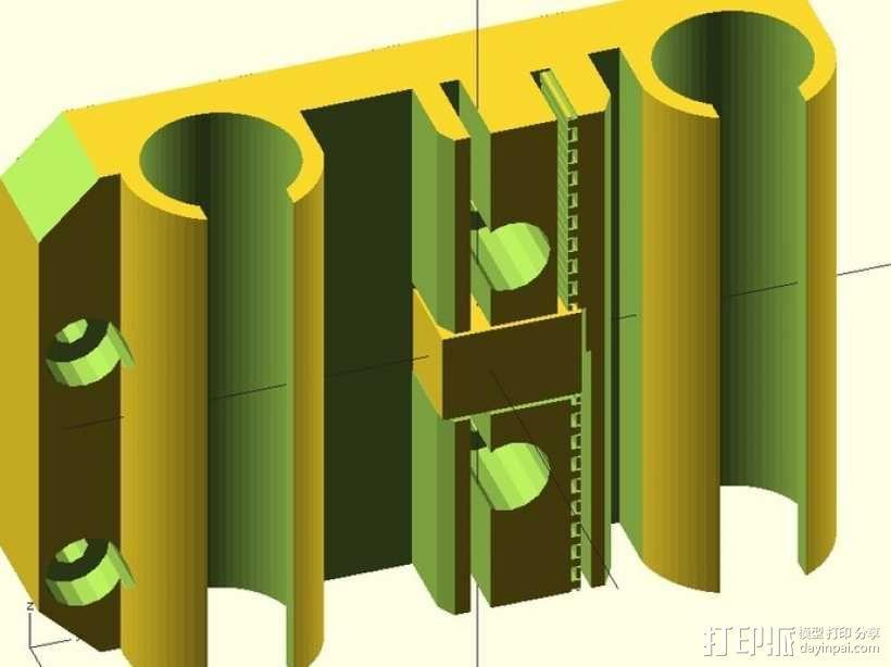 prusa i3打印机X轴固定件 3D模型  图1