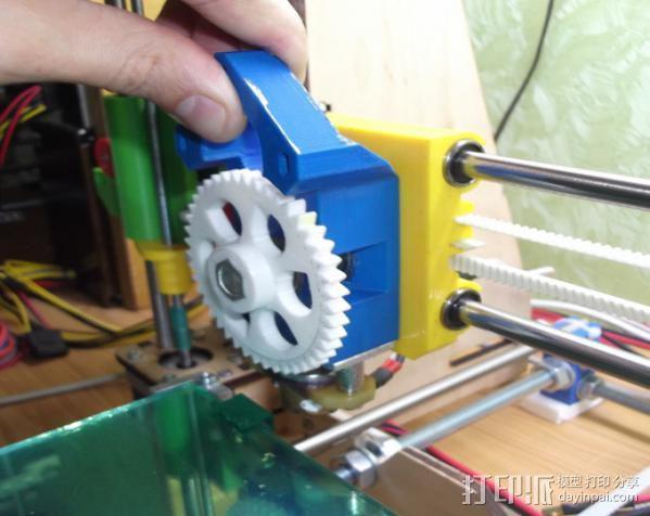 prusa i3打印机X轴固定件 3D模型  图3