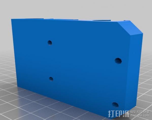 prusa i3打印机X轴固定件 3D模型  图2