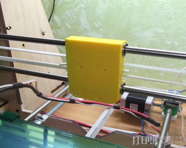 prusa i3打印机X轴固定件 3D模型  图4