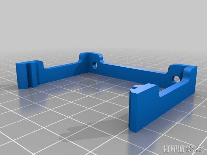 RAMPS 1.4电路板风扇支架 3D模型  图1