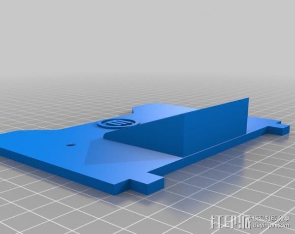 Makerbot打印机仪表盘挡板 3D模型  图2