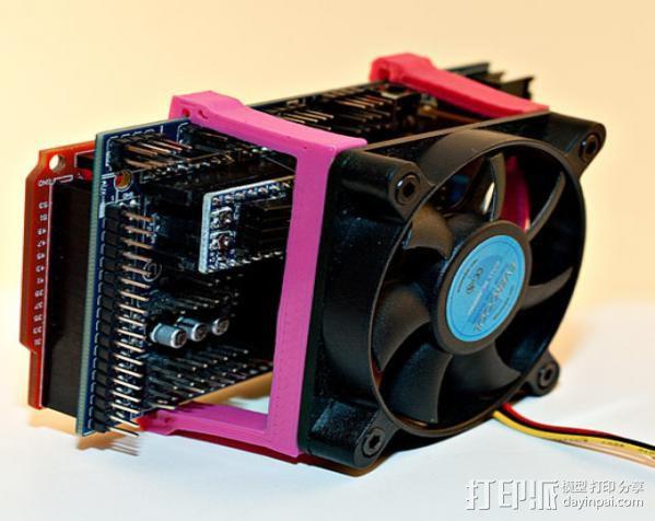RAMPS电路板风扇支架 3D模型  图5