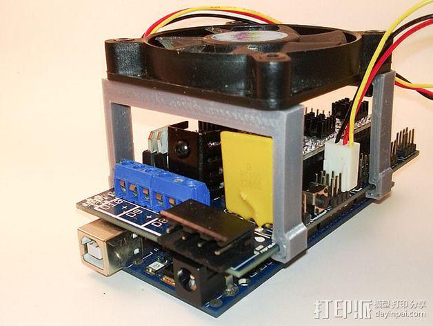 RAMPS电路板风扇支架 3D模型  图9
