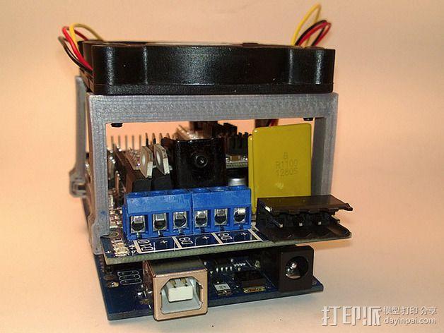 RAMPS电路板风扇支架 3D模型  图10