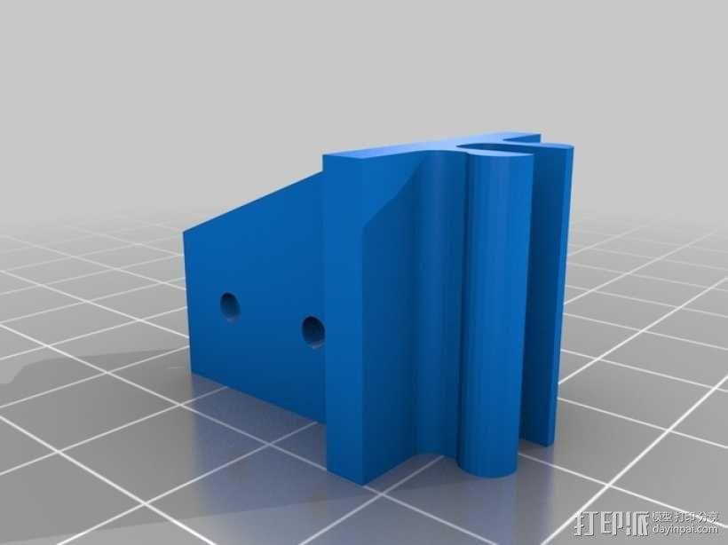 限位开关 导轨夹 3D模型  图3