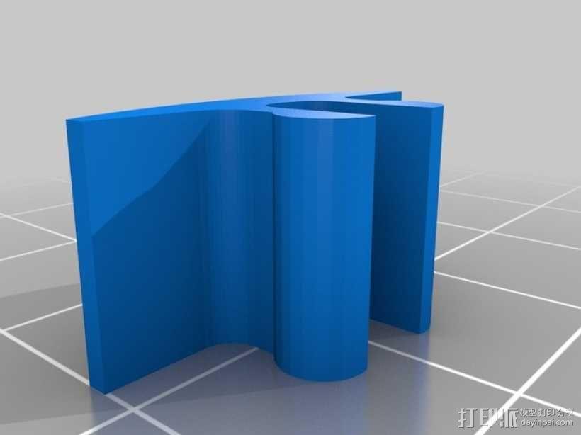 限位开关 导轨夹 3D模型  图2