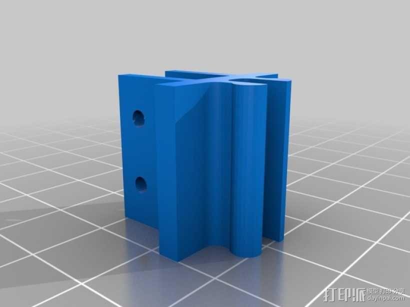 限位开关 导轨夹 3D模型  图4