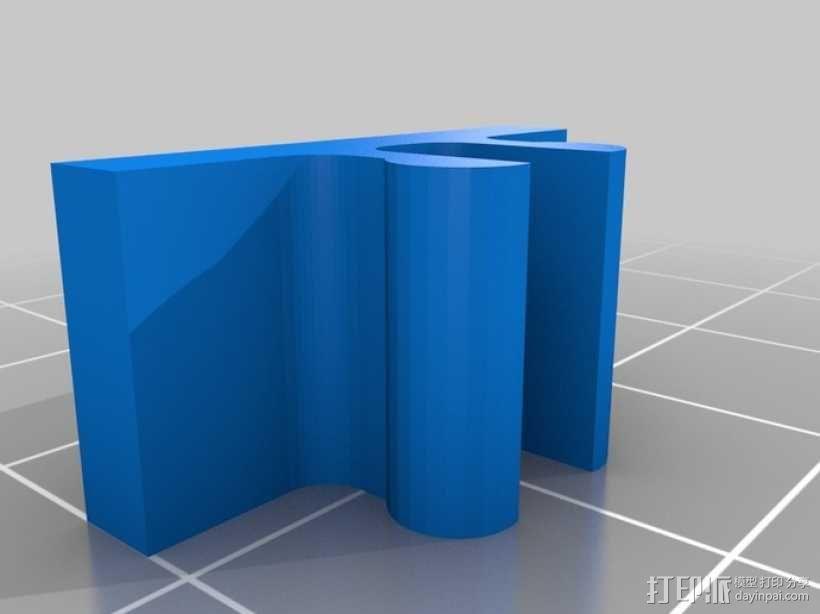 限位开关 导轨夹 3D模型  图5