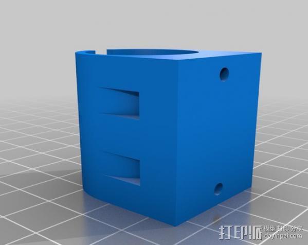 直线轴承套 3D模型  图2