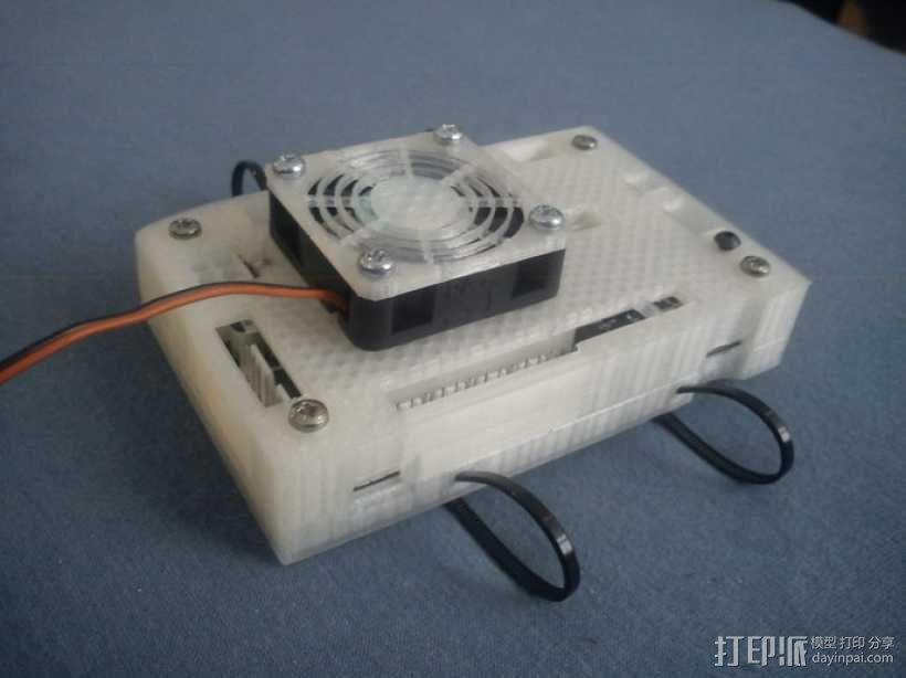 电路板风扇外盒 3D模型  图1