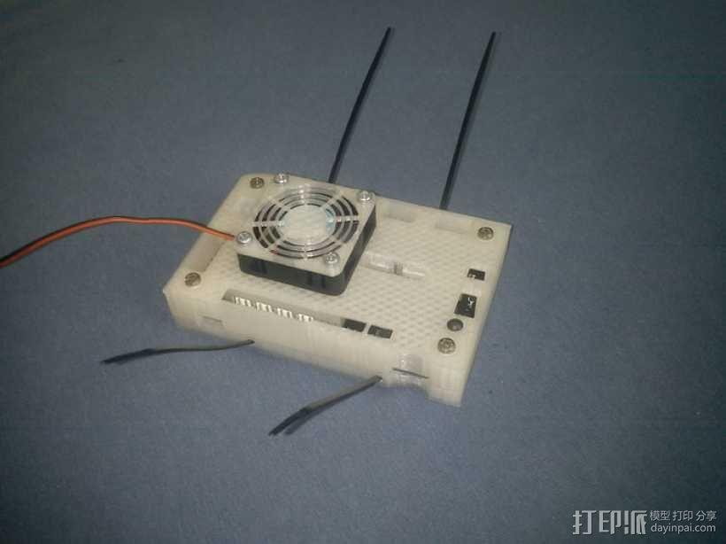 电路板风扇外盒 3D模型  图4