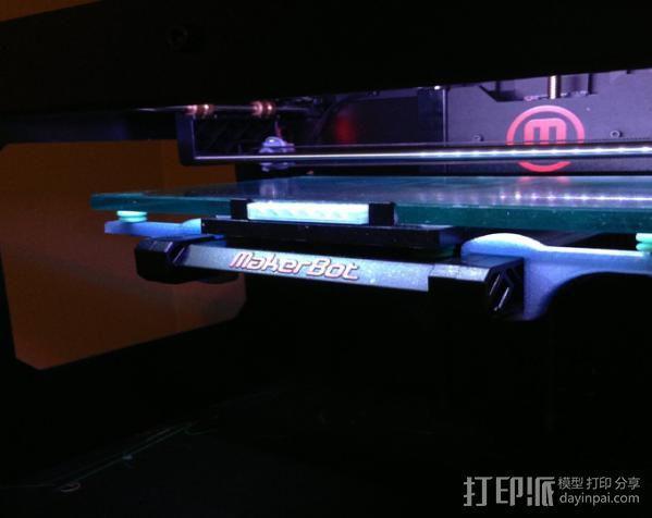 Rep2打印机打印床支撑器 3D模型  图3