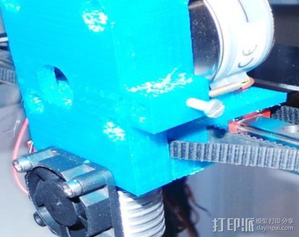 齿轮挤出机喷头支架 3D模型  图5