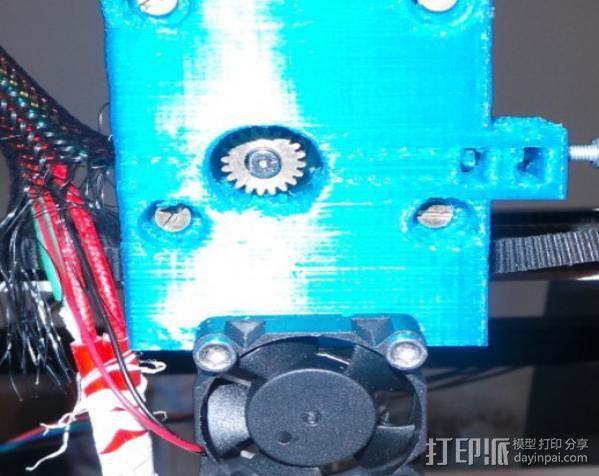 齿轮挤出机喷头支架 3D模型  图6
