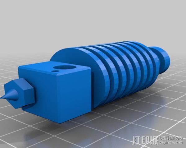 齿轮挤出机喷头支架 3D模型  图7
