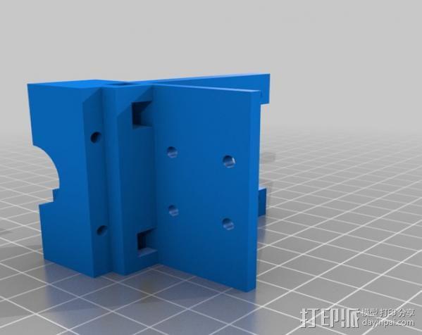 齿轮挤出机喷头支架 3D模型  图11