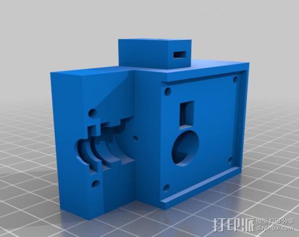 齿轮挤出机喷头支架 3D模型  图9