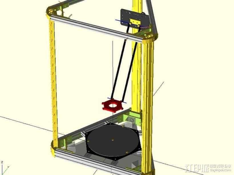delta式打印机 3D模型  图1