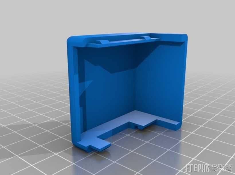 挤出机罩 3D模型  图1
